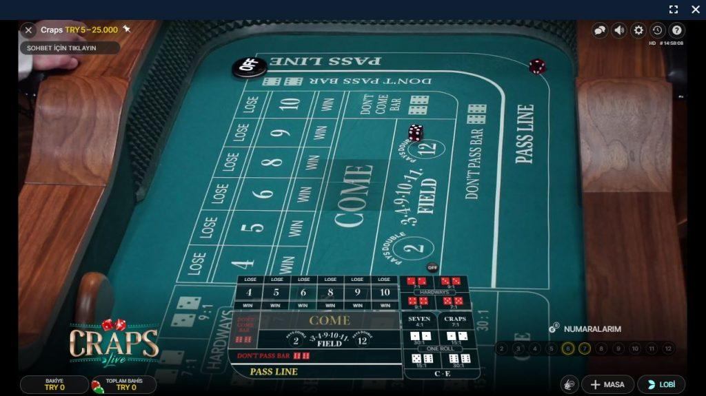 Canlı Casino Craps